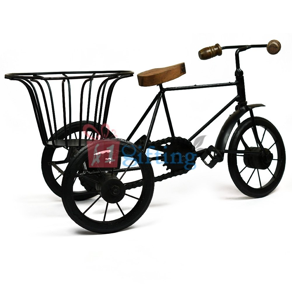Iron Handicraft Rickshaw with Designer Carrier
