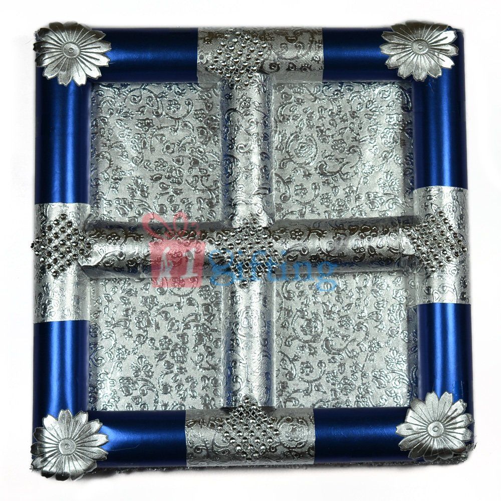 Silver Touch Handmade Dry fruit Serving Tray
