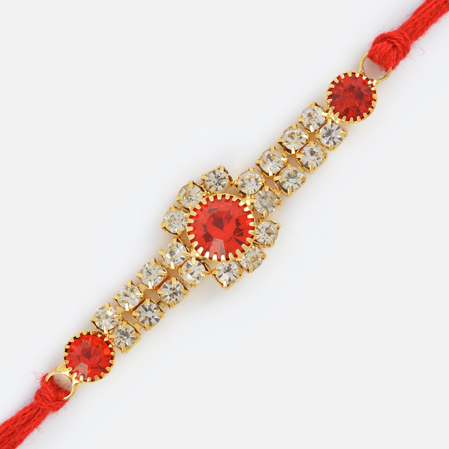 Simply Elegant Diamond Jewel Rakhi