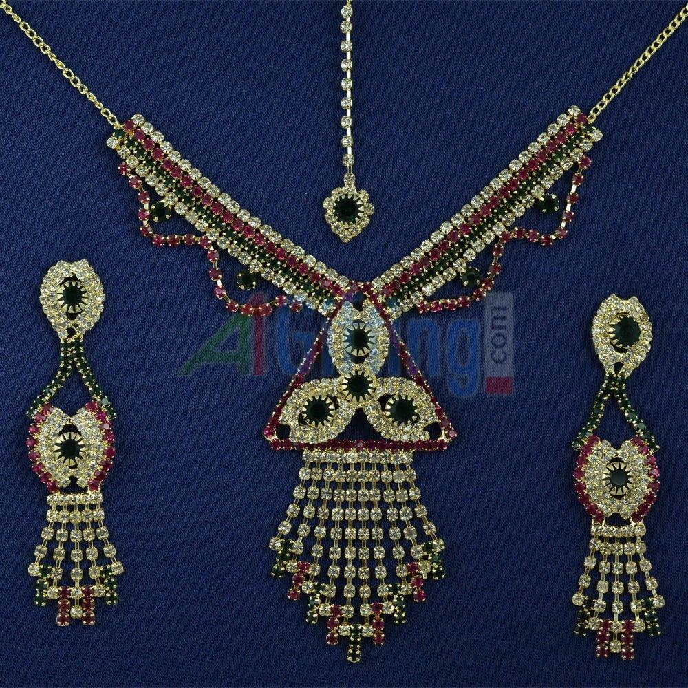 Unique Multicolor Diamond Jewelry Set