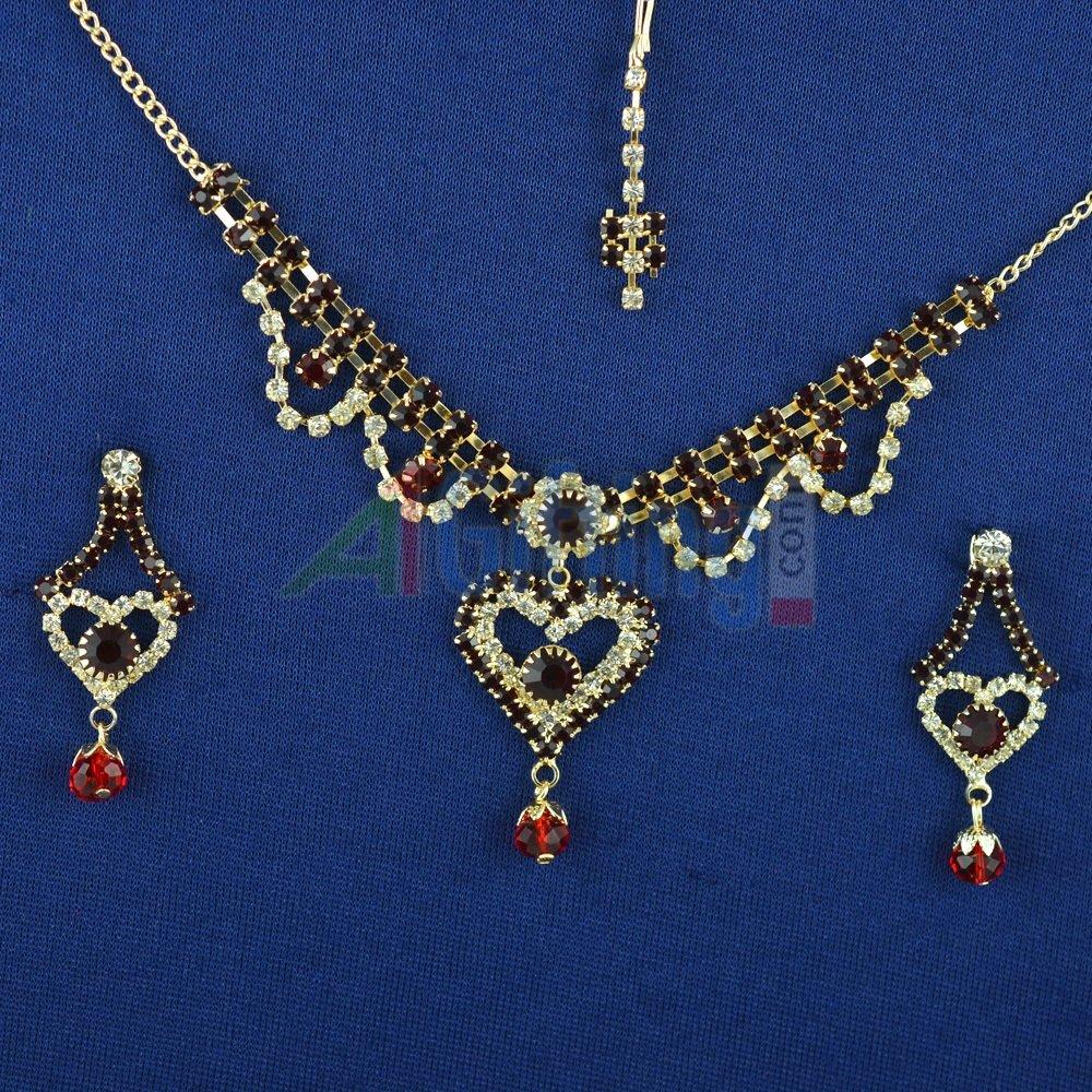 Heart Shape Neclace Diamond Jewelry Set