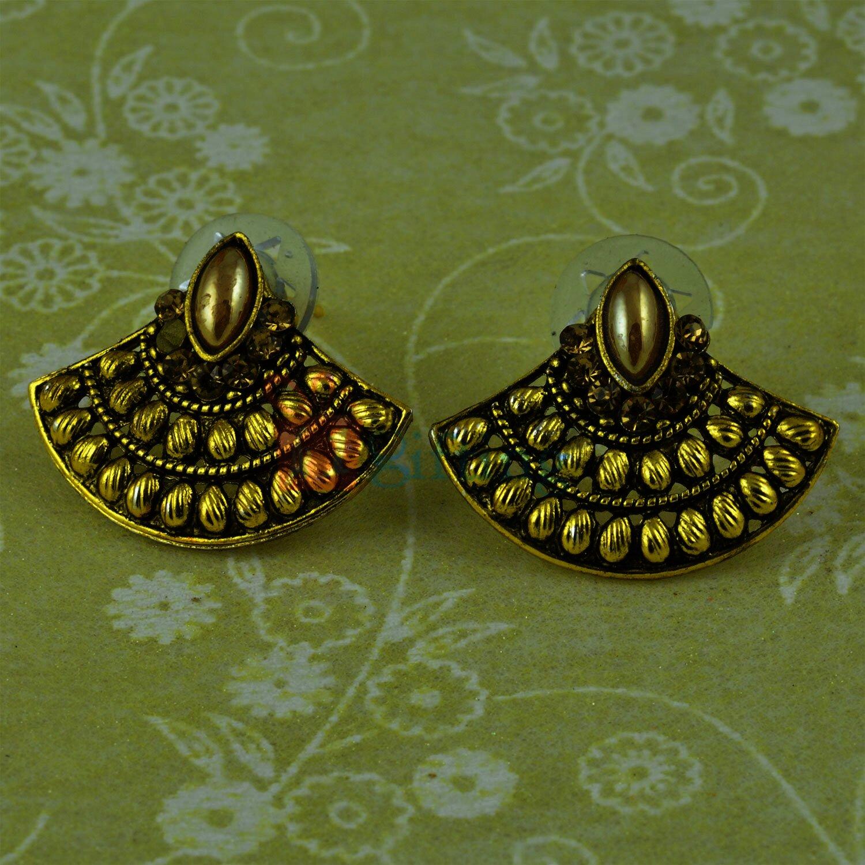 Antique Designer Golden Touch Earrings