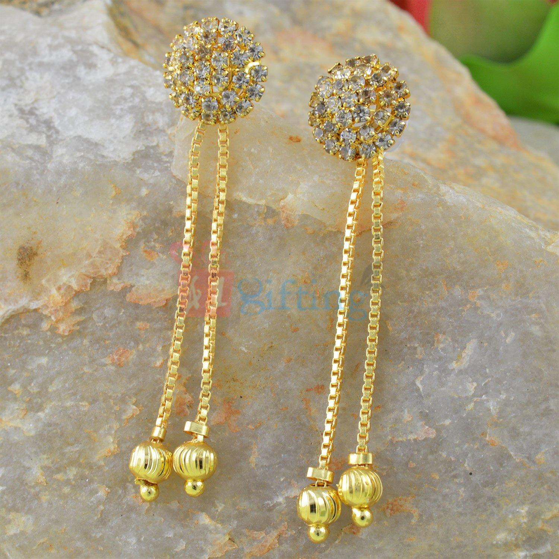 Amazing Diamond Sui Dhaga Earrings
