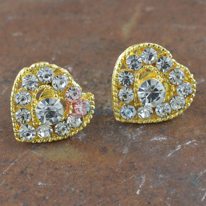 Heart Shape Fancy Diamond Earrings