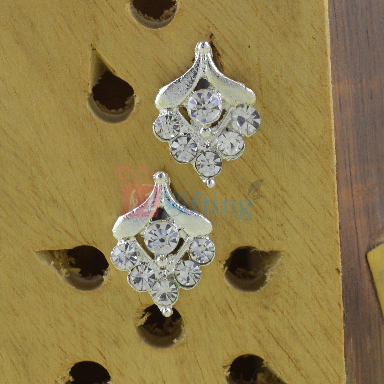 Leaf Style Silver Touch Fancy Earrings