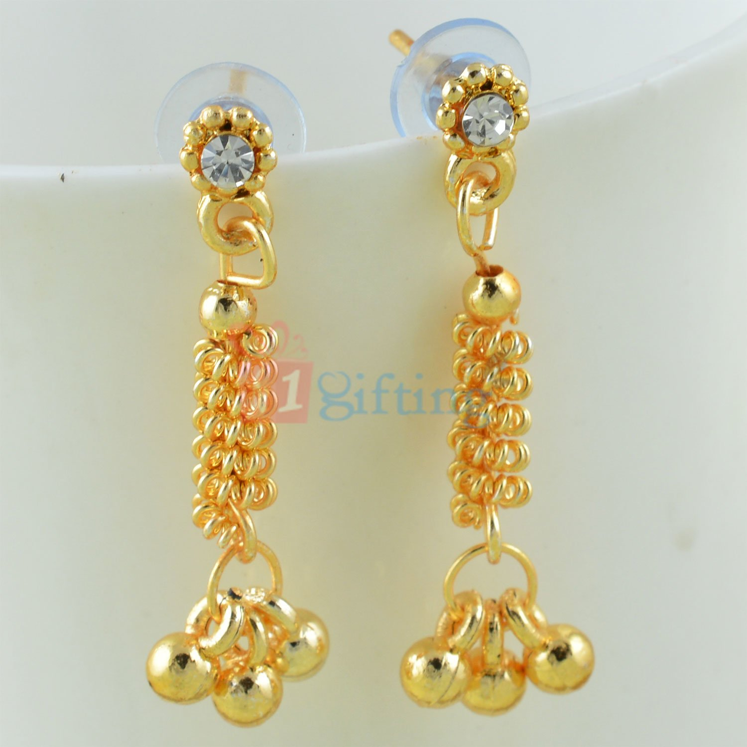 Stylish Ghungroo Sui Dhaga Earrings