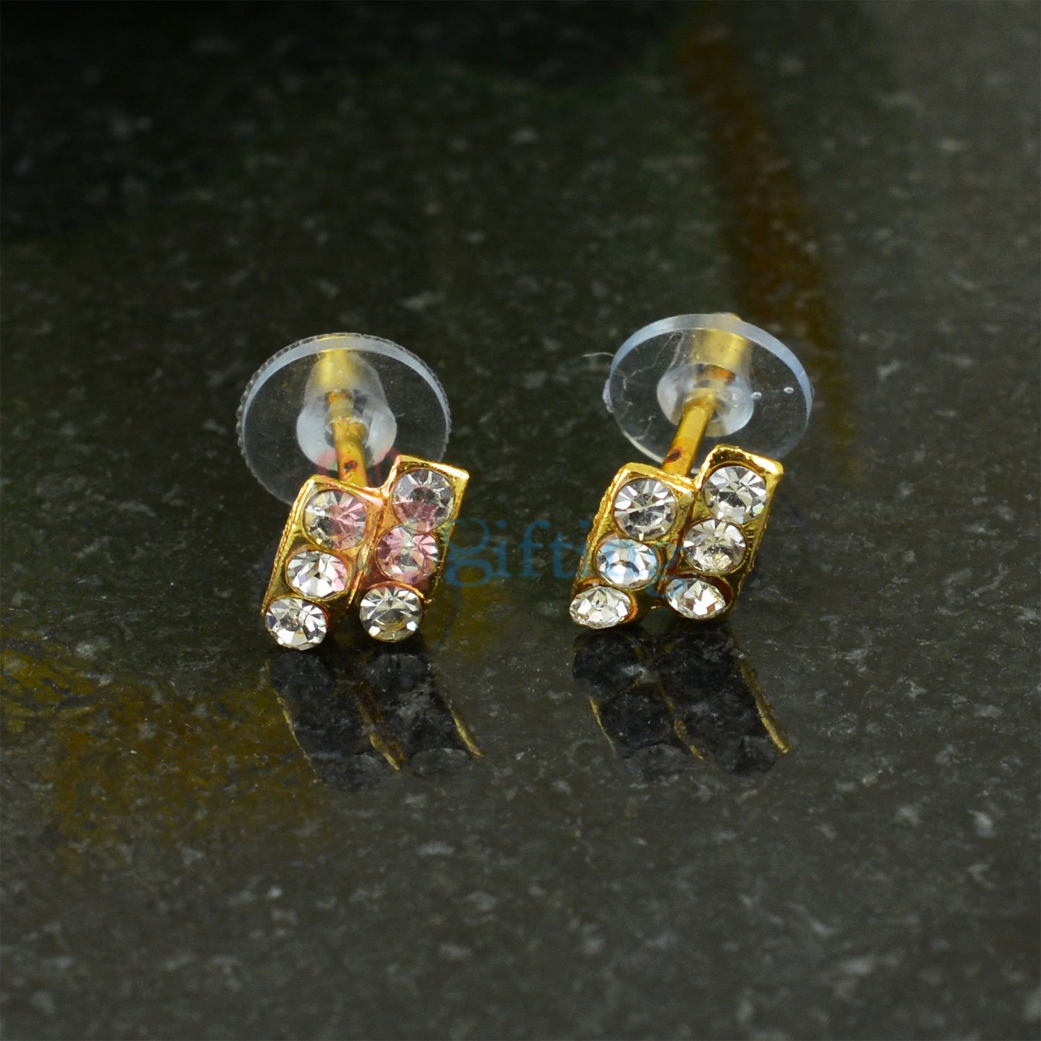 Two Liner Diamond Small Earrings