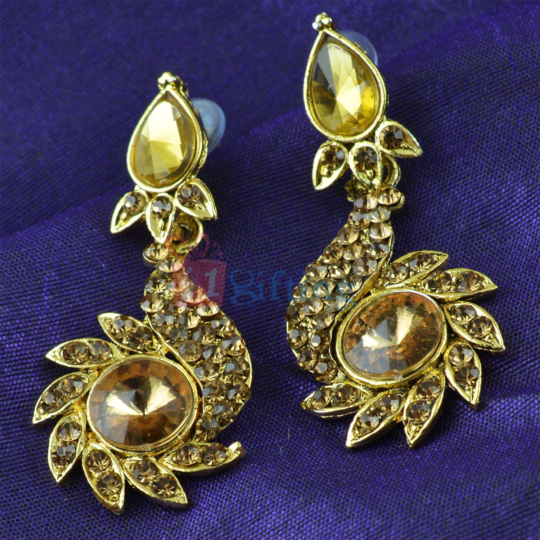 Awesome Golden Diamond Fancy Earrings