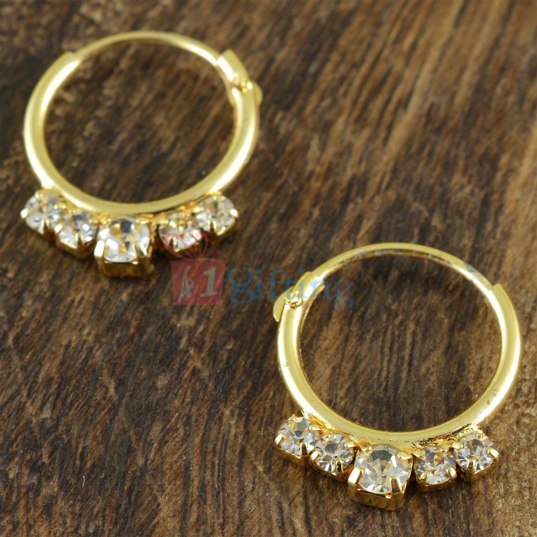Simply Beautiful Ring with Diamond Fancy Earrings