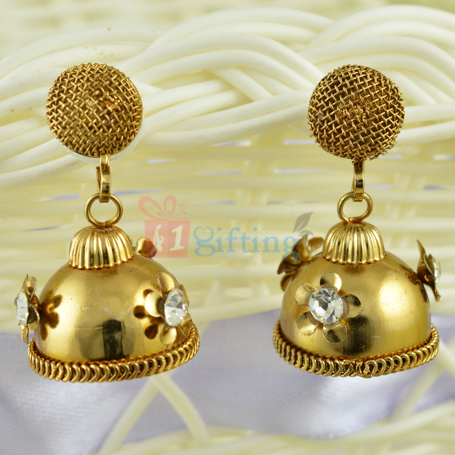 Amazing and Antique Look Jhoomer Earrings