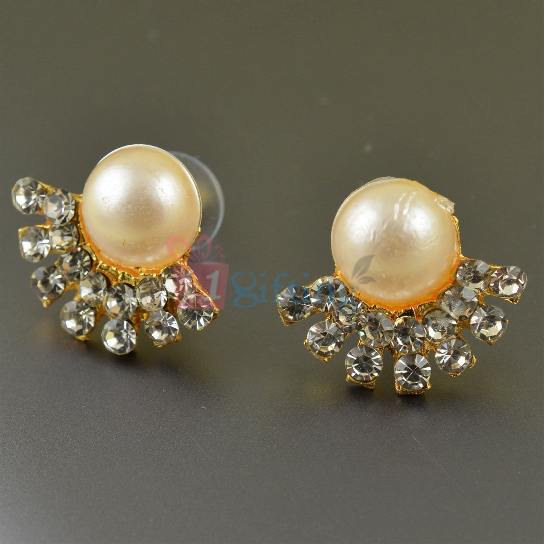 Beautiful and Amazing Diamond Pearl Fancy Earrings