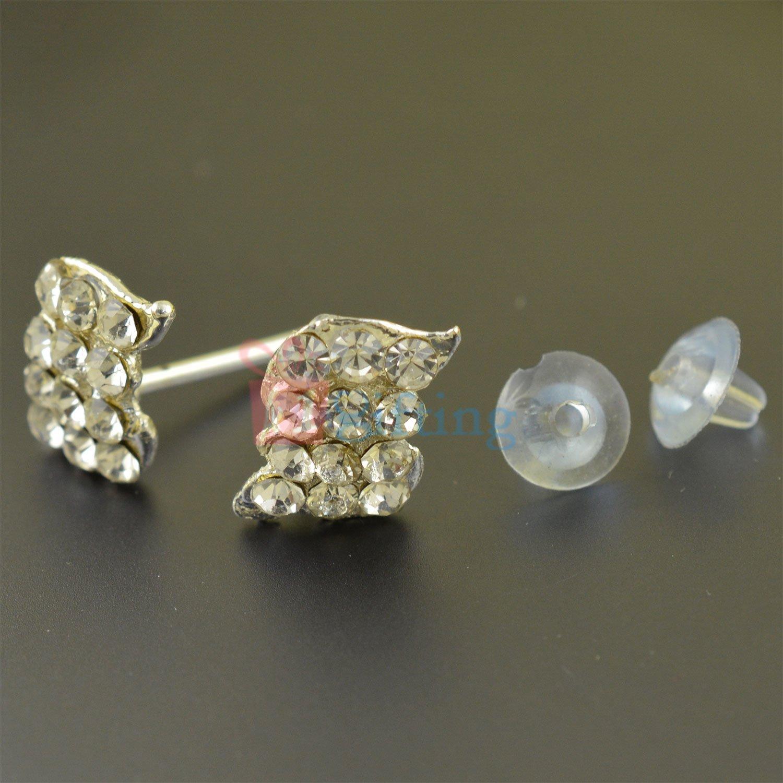 Silver Touch Twin Leaf Fancy Earrings