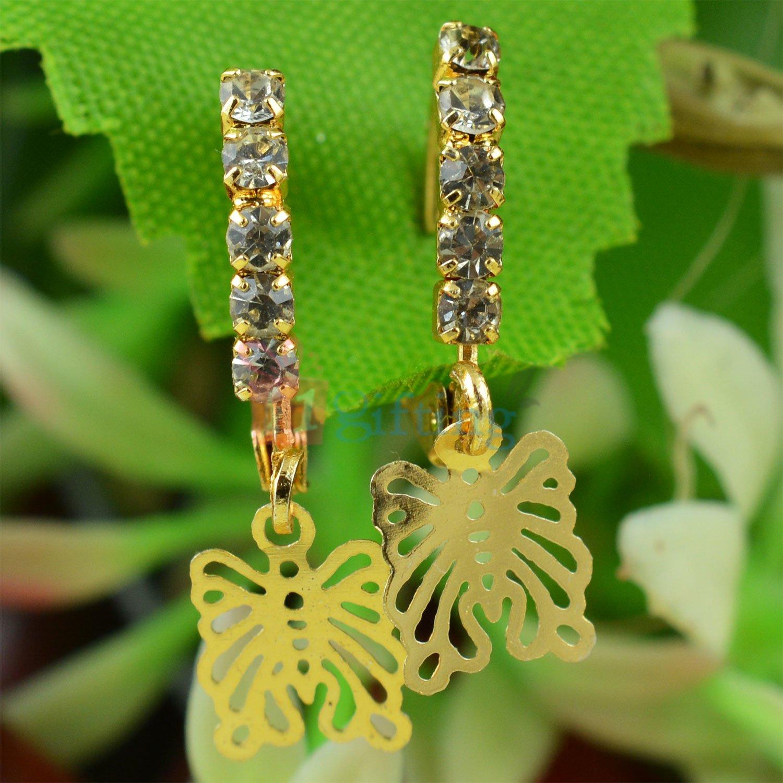 Diamond Liner Butterfly Fancy Earrings