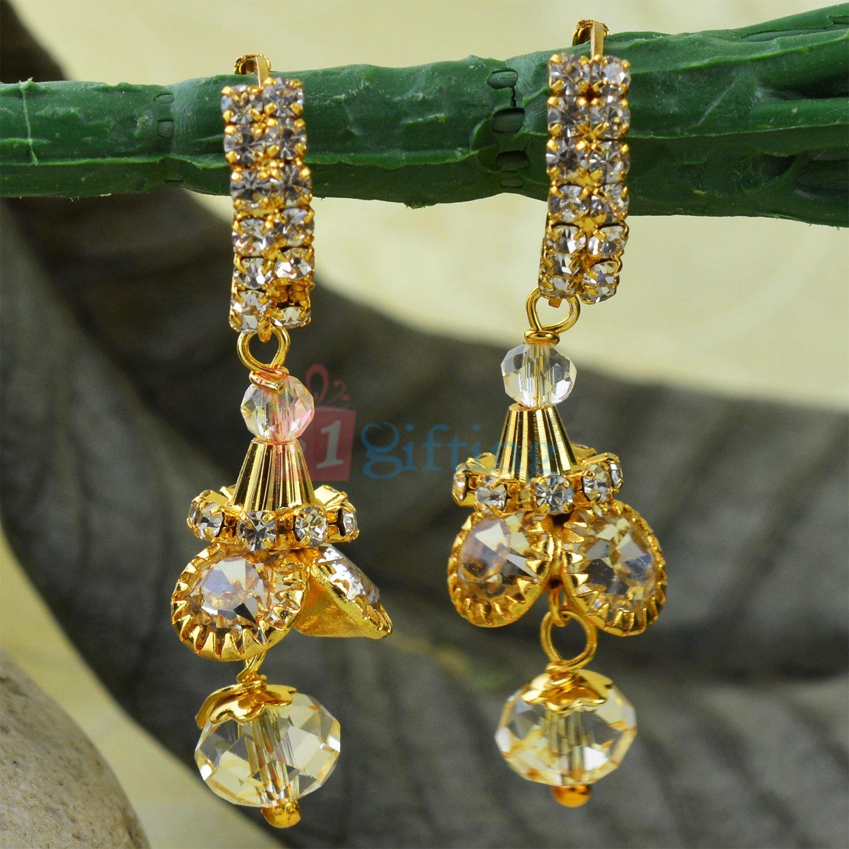 Great Design Fancy Diamond Golden Earrings