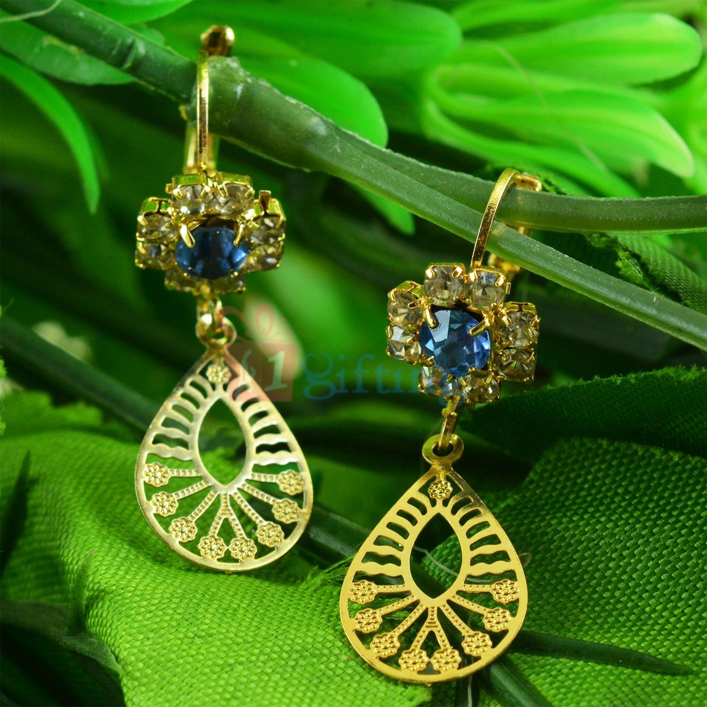 Amazing and Fancy Blue Stone Earrings