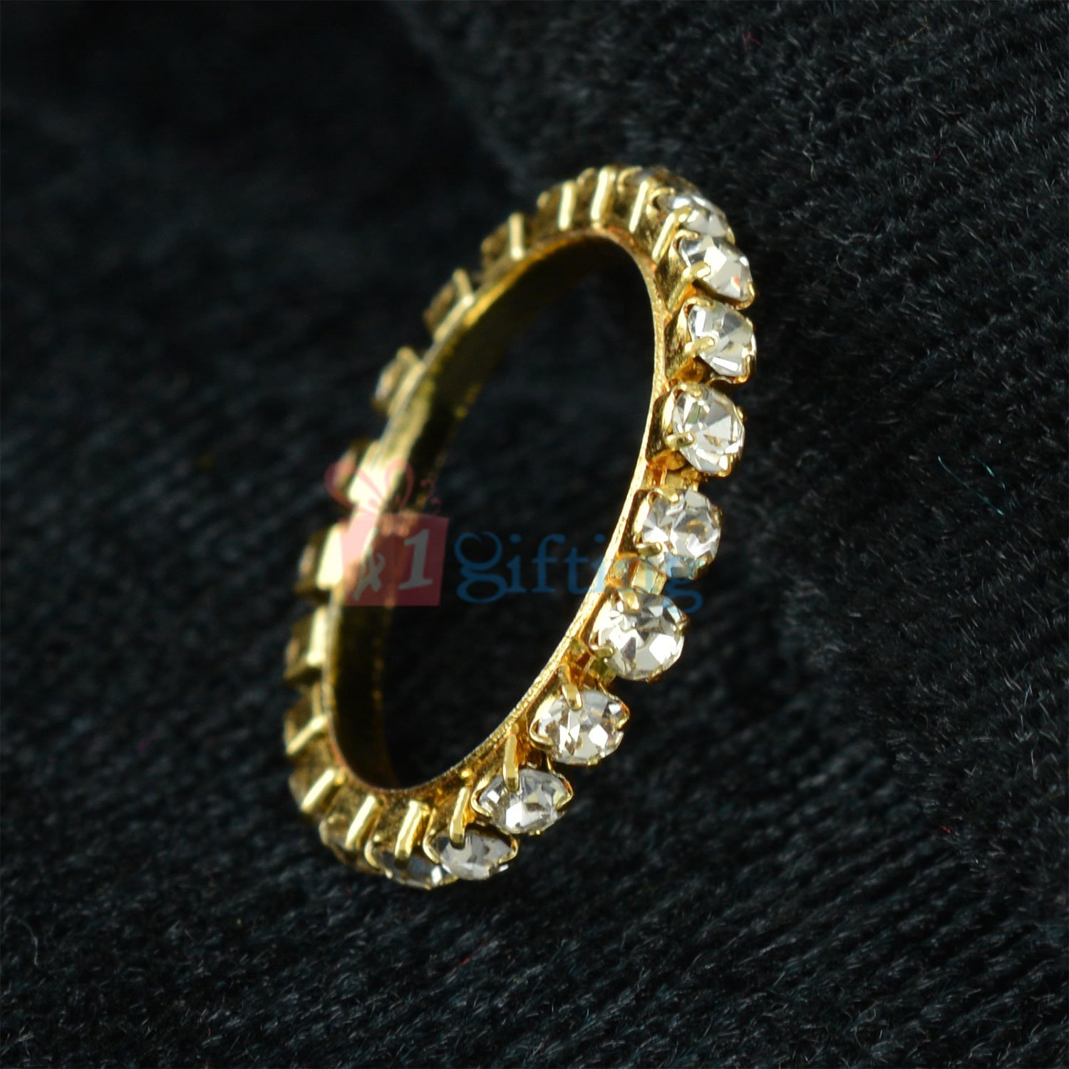 Golden Fancy Diamond Anchor Ring