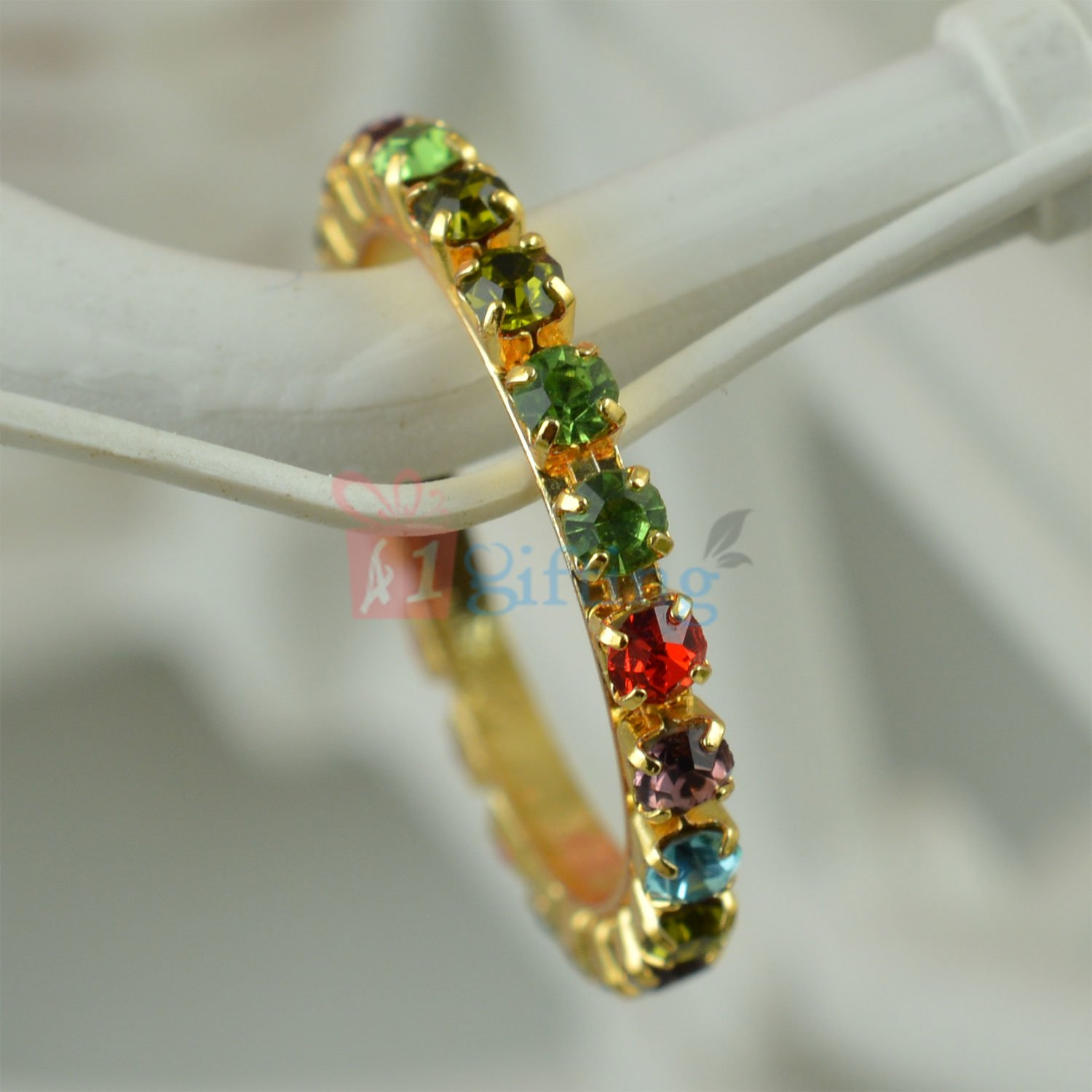 Multi Color Diamond Fancy Anchor Ring