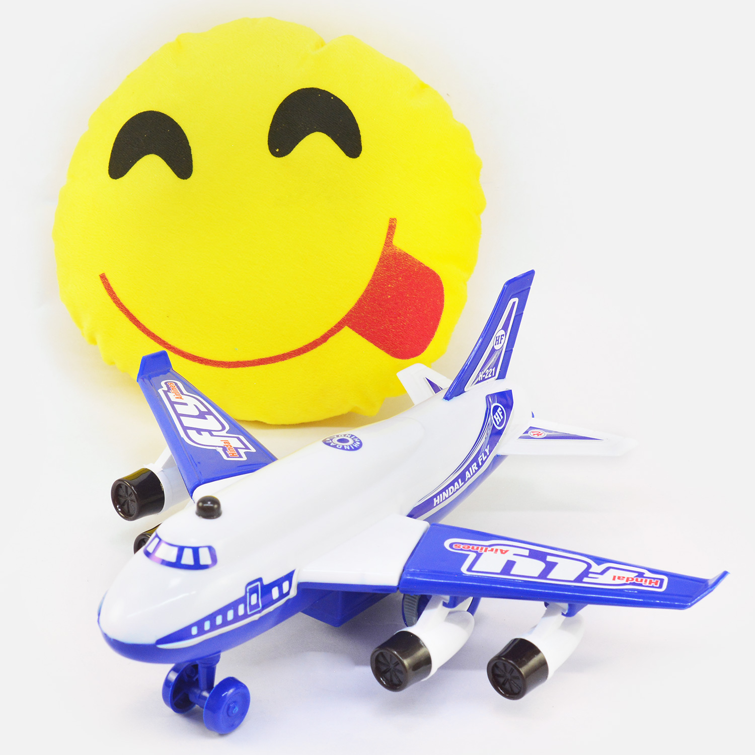Eye Catching Kids  Airplane with Face Savoring Food Soft Toy