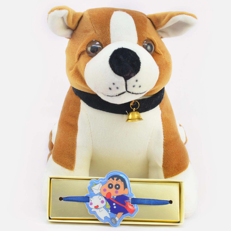 Gorgeous Ultra Dog Soft Toy with Kids Rakhi