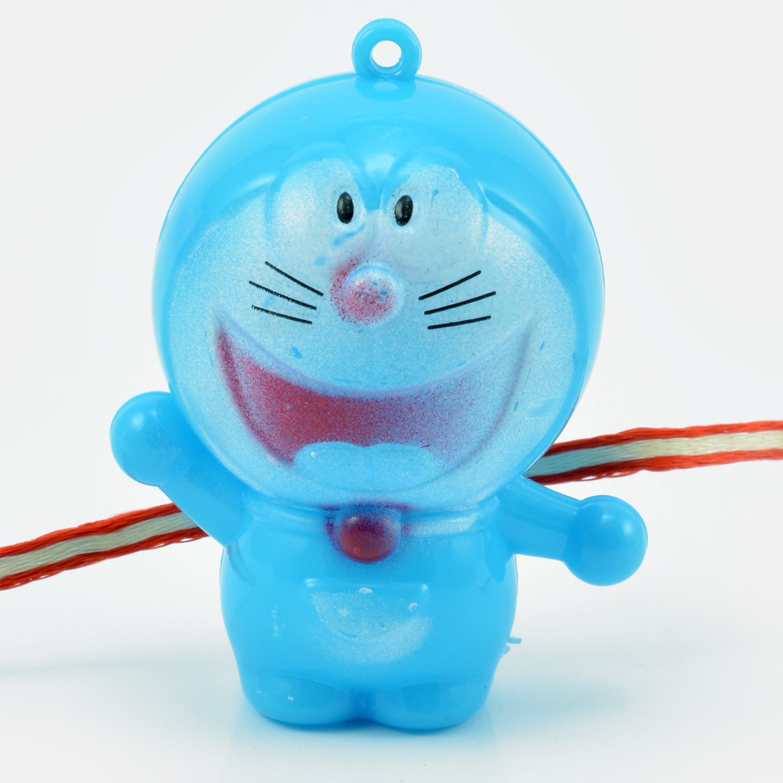 Doraemon Character Rakhi for Kids with Flash Light