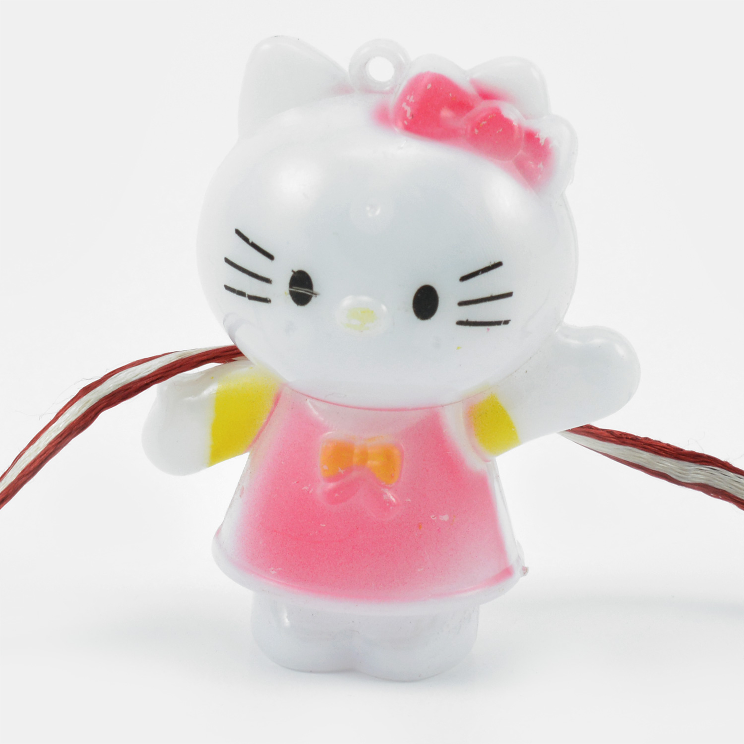 White Cat Cartoon Rakhi for Kids