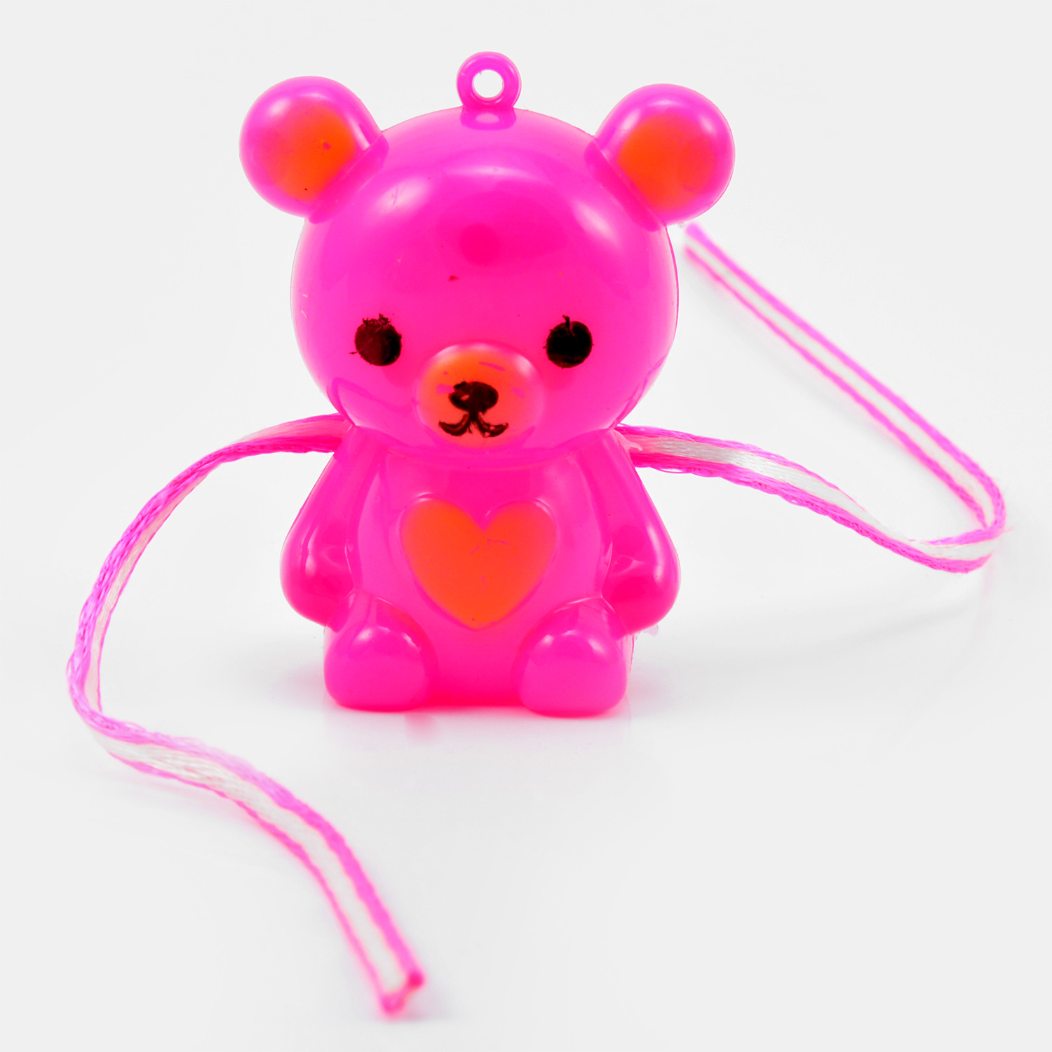 Pink Teddy Rakhi with Heart