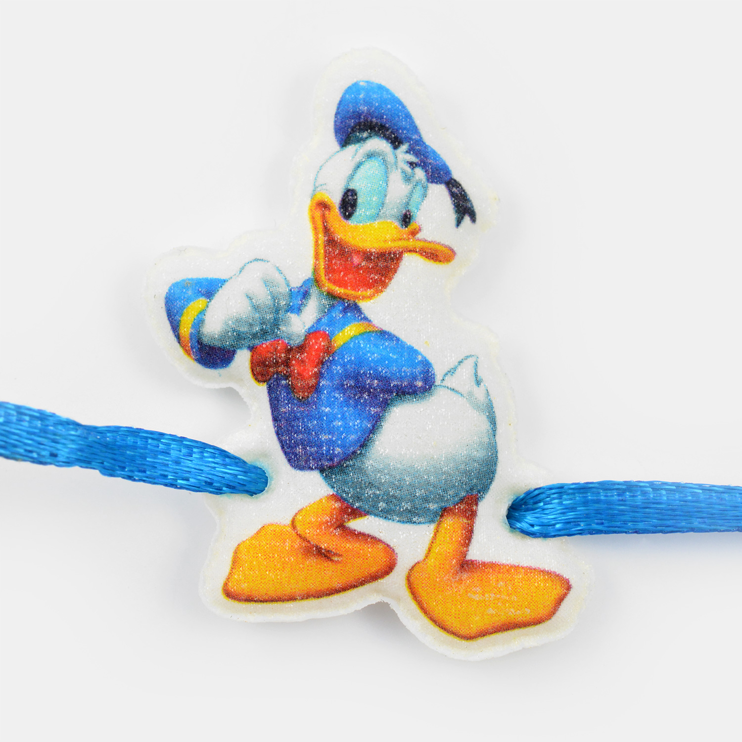 Donald Duck White Base Blue Thread Kids Rakhi