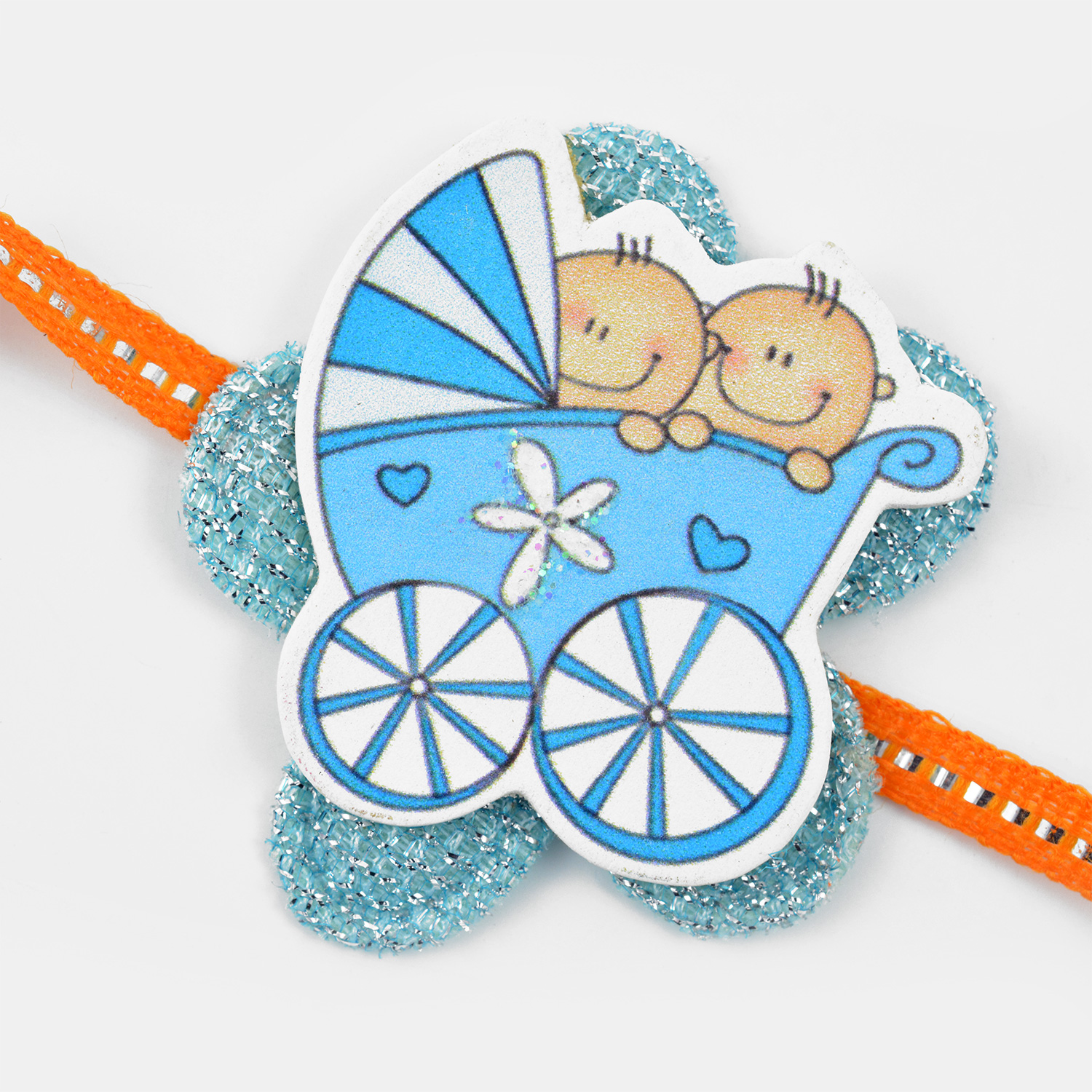 Funny Two Twins Baby Brothers Rakhi for Kids