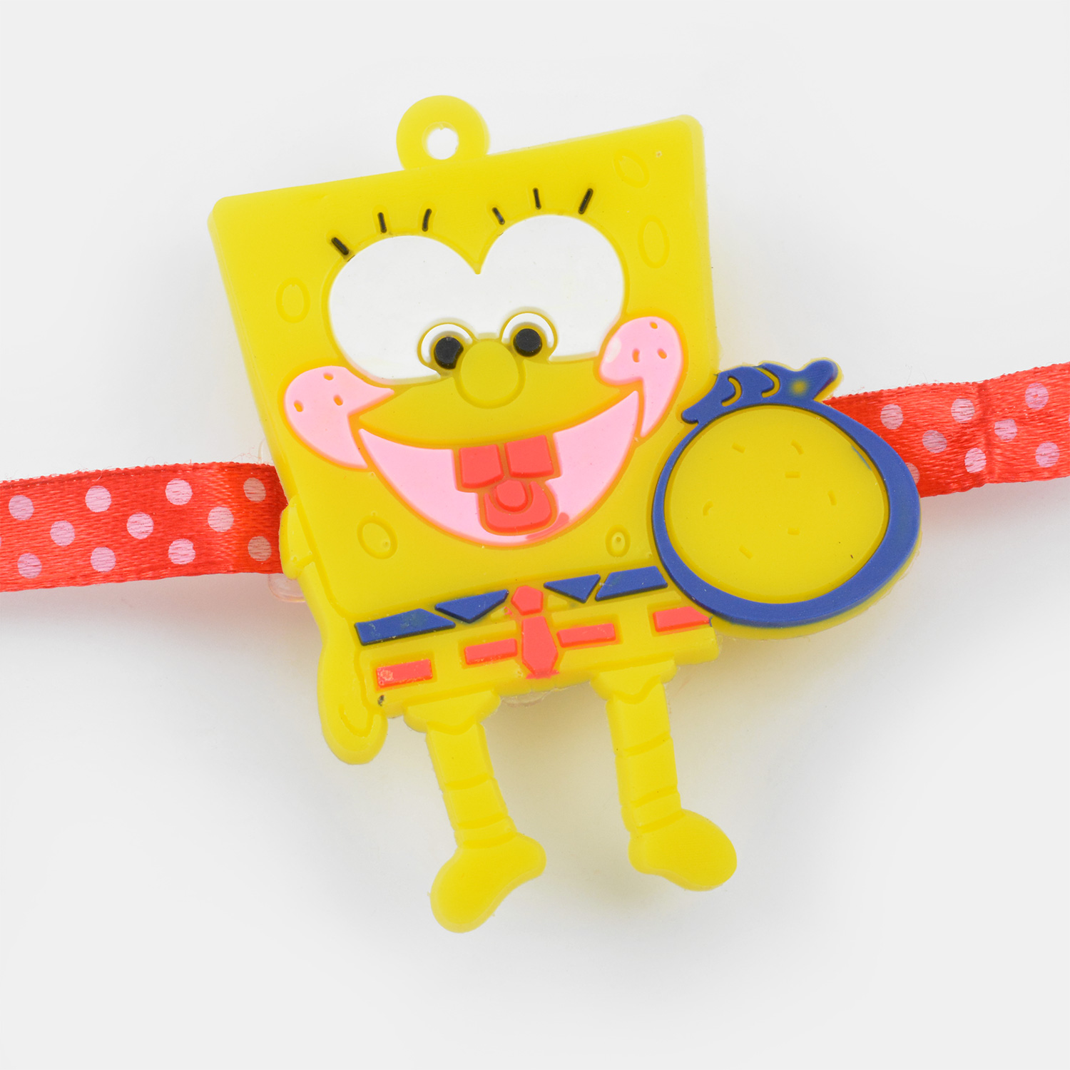 Funny Yellow Smiling Cartoon Rakhi for Kids