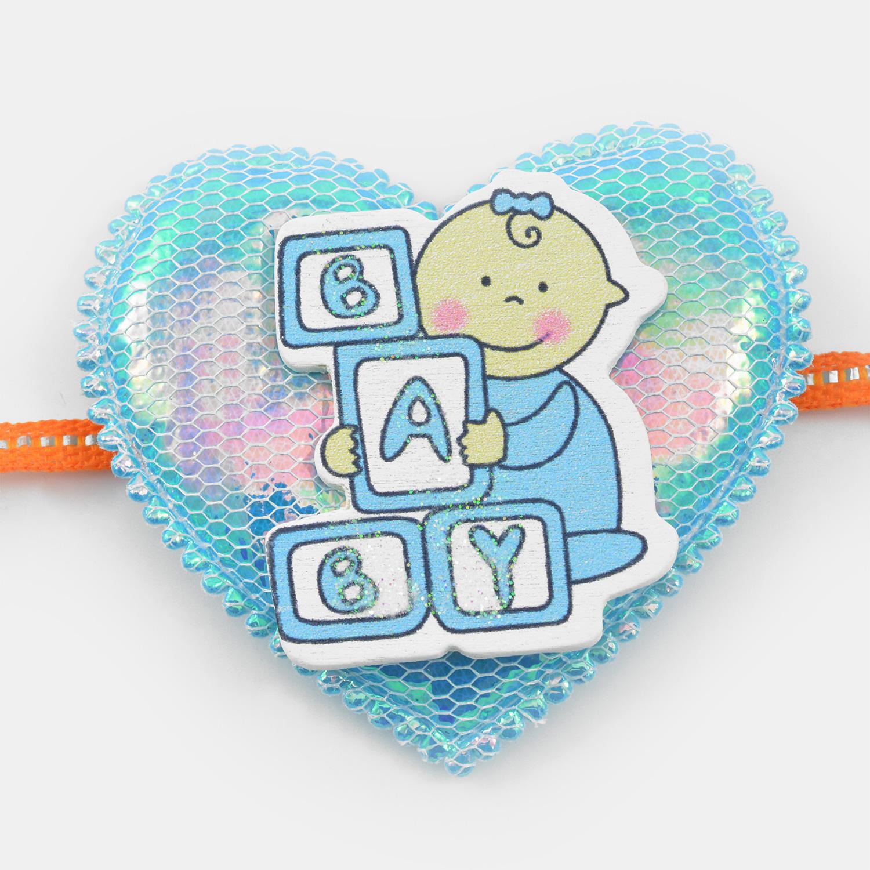 Heart Shape Baby Rakhi for Kids