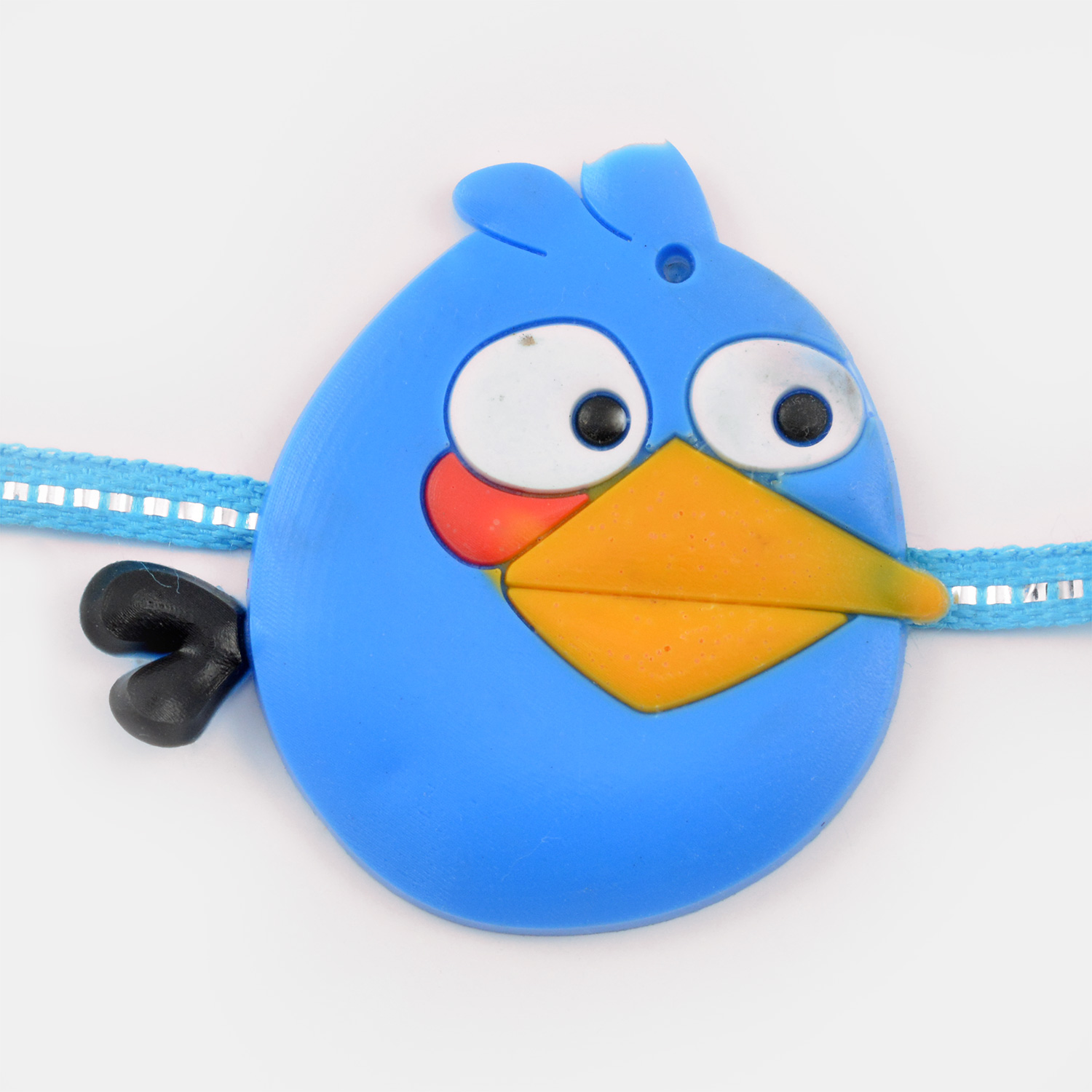 Blue Bulb Like Angry Bird Cartoon Rakhi for Kids