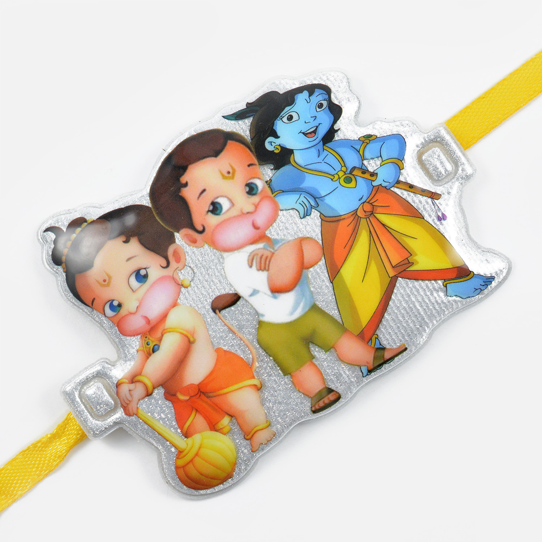 Little Hanuman With Krishna Design Rakhi