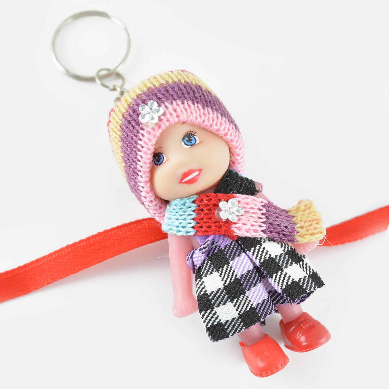 Little Barbie Toy Rakhi for Girls with Woolen Cap