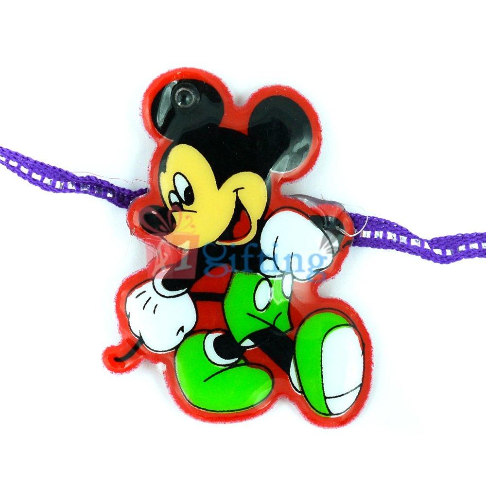 Mickey Mouse with Blue Wrist Band Cartoon Rakhi