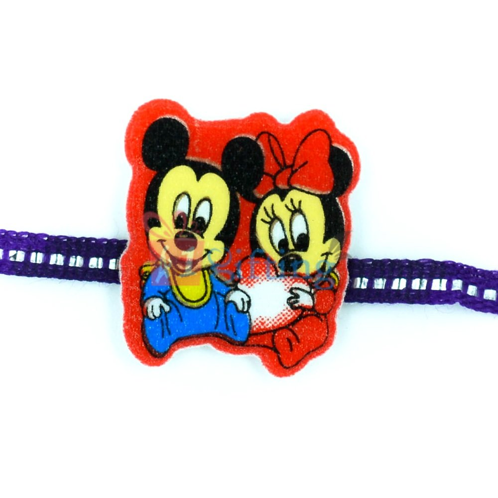 Mickey and Minnie Mouse Kids Rakhi for Baby Girls and Boys