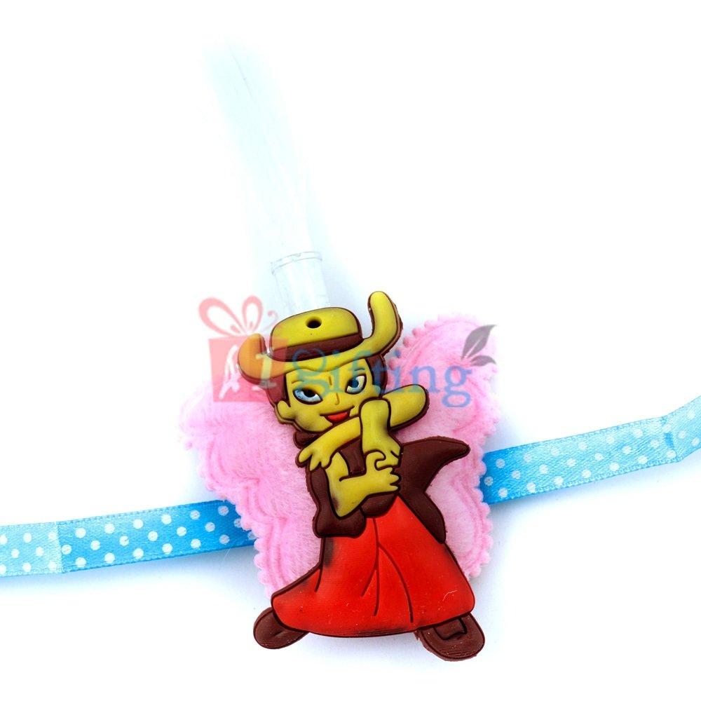 Bal Hanuman in Action - Rakhi for Kids with Lightning Fibers