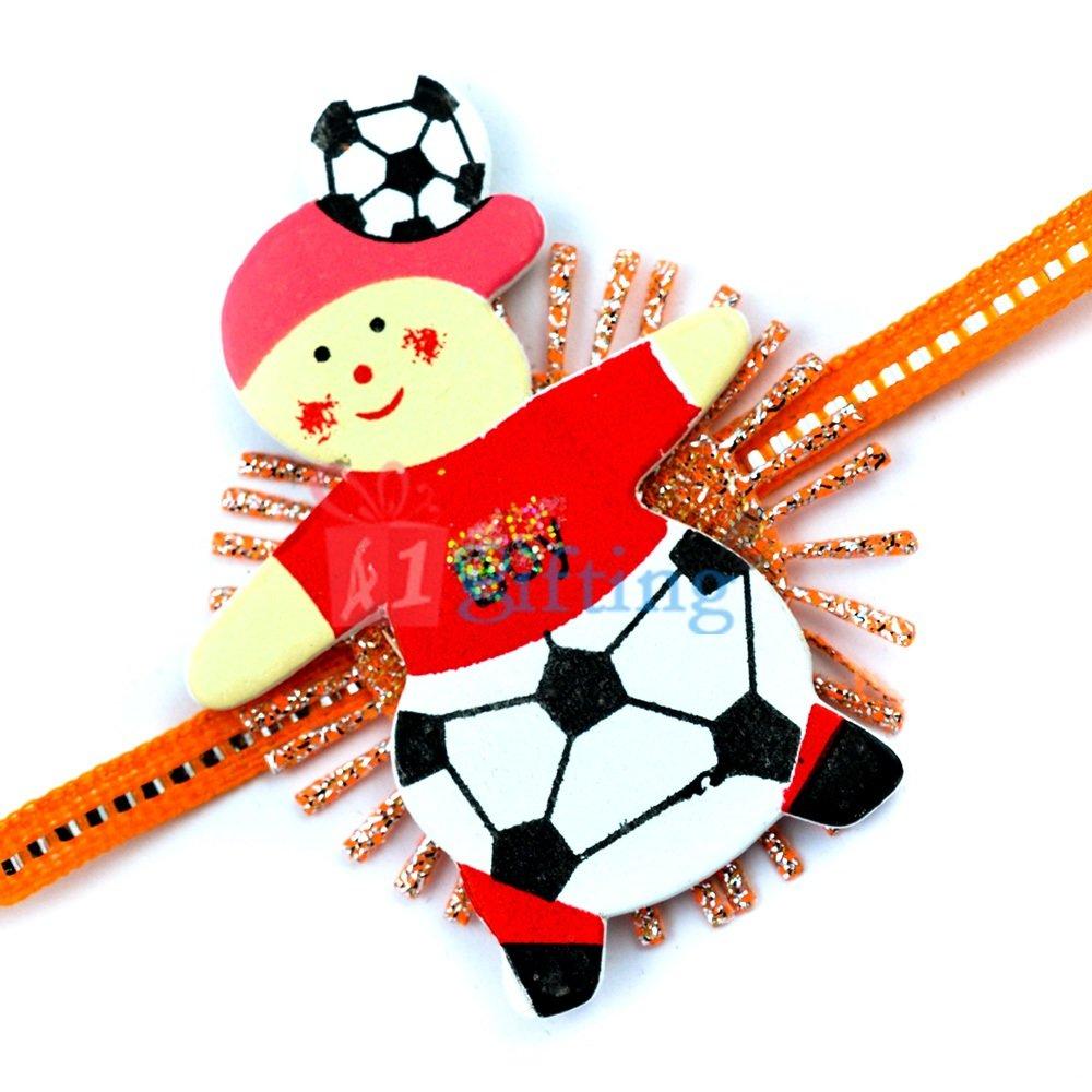Boy with Ball Fancyfully Designer Rakhi for Kids