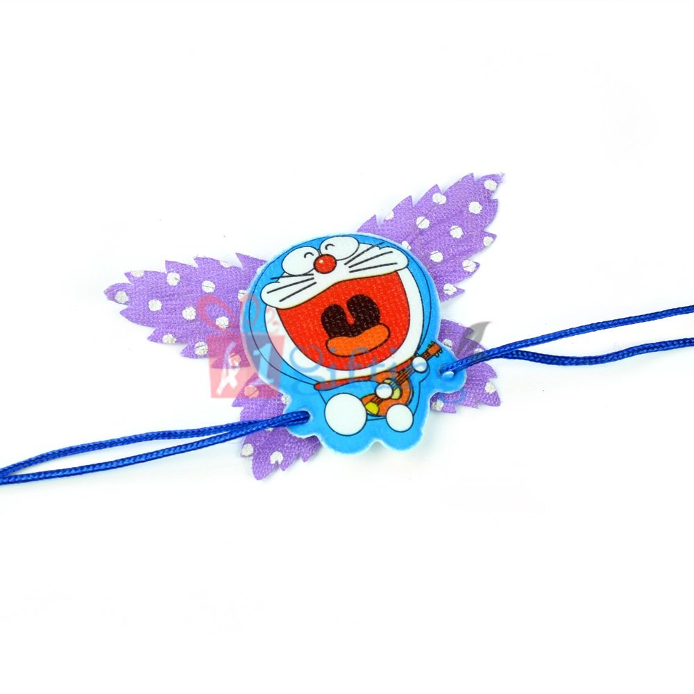 Doraemon Butterfly Toy Rakhi for Kids
