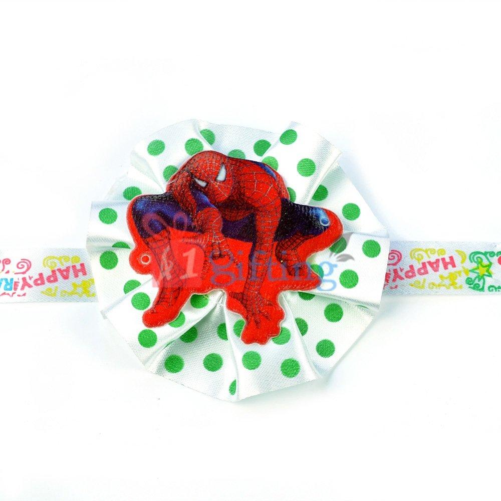 Spiderman Rakhi for Kids with Flower Base