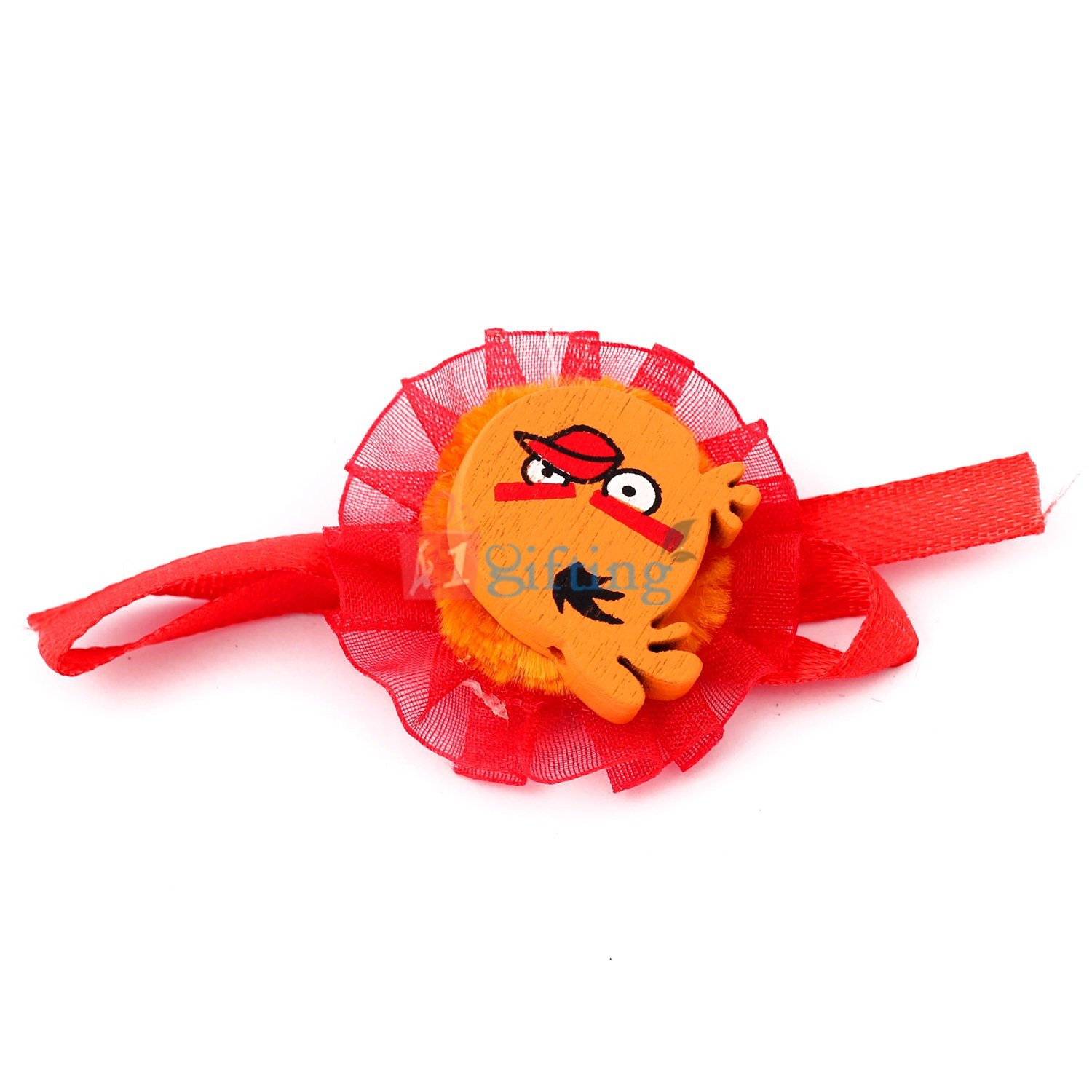 Cute orange color angry birds with red round net base