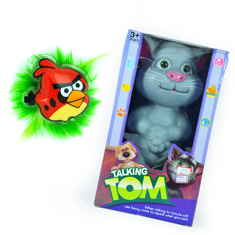 Talking TOM with Angry Birds Rakhi for Kids