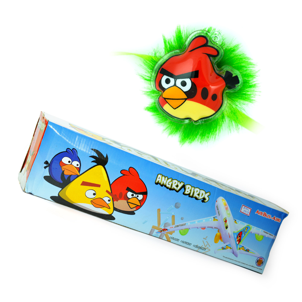 Angry Birds-Air Bus Toy with Angry Birds Kids Rakhi