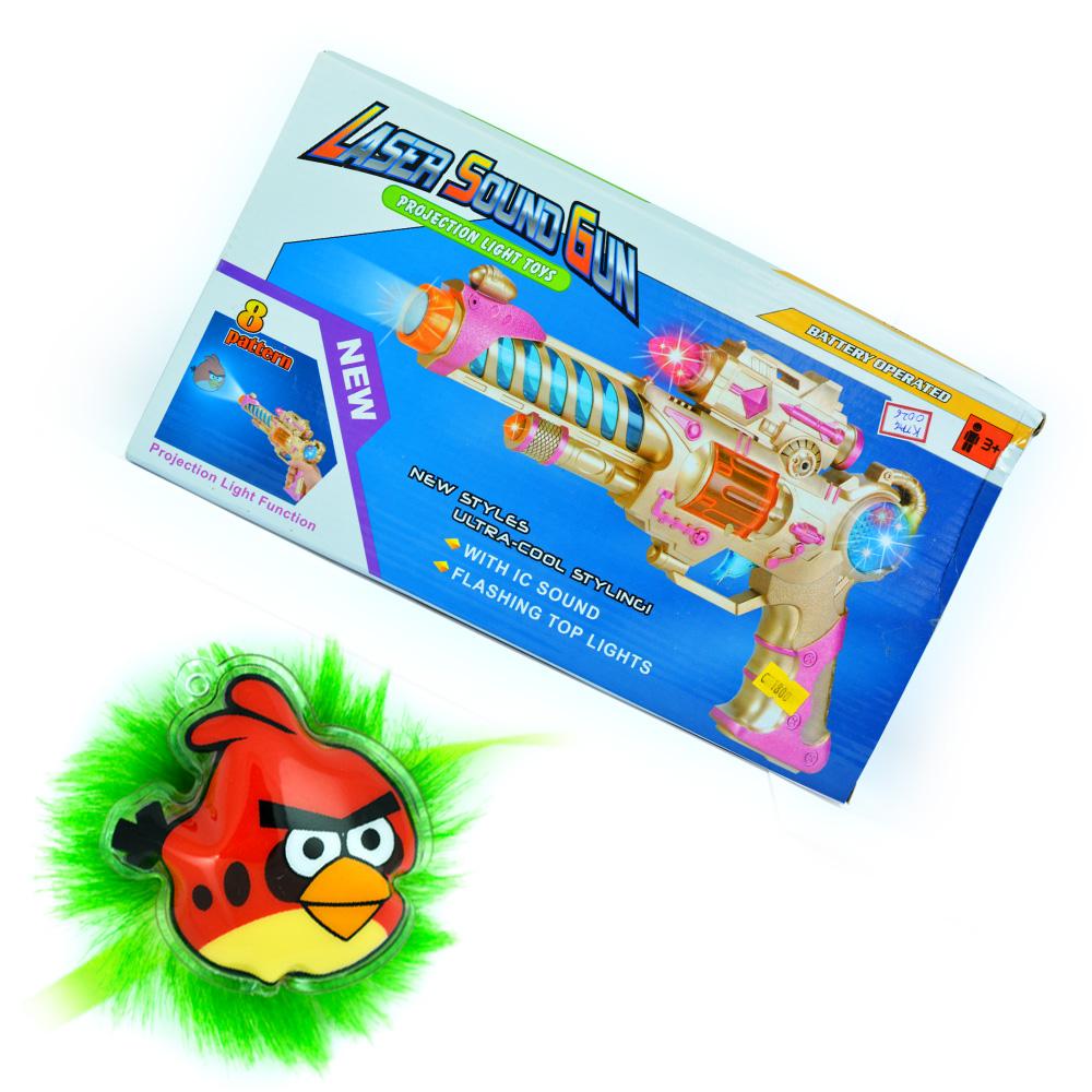 Laser Sound Gun-Kids Toy with Angry Birds Kids Rakhi