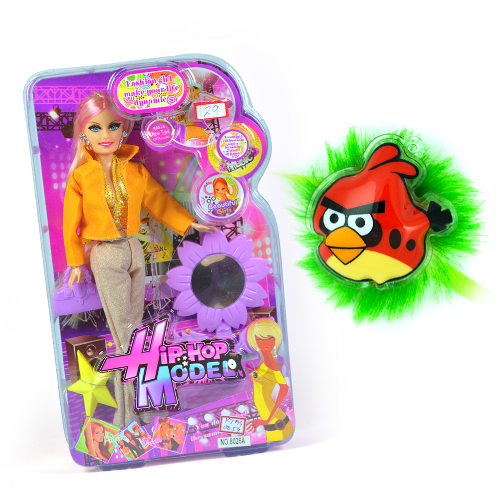 Hip-Hop Model-Doll and Angry Birds Kids Rakhi