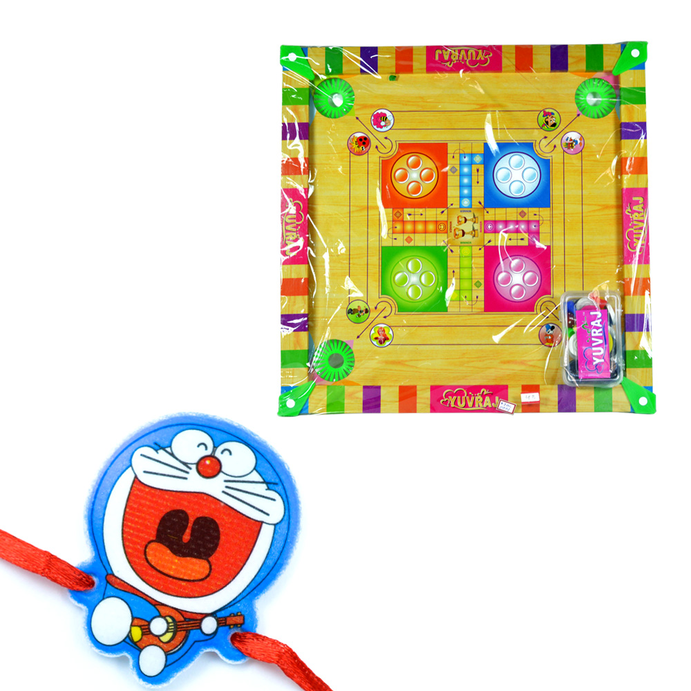 Carrom Board n Doraemon Children Rakhi