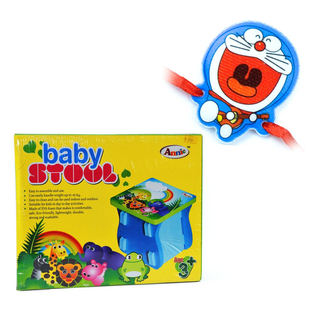 Baby Stool with Doraemon Kids Rakhi