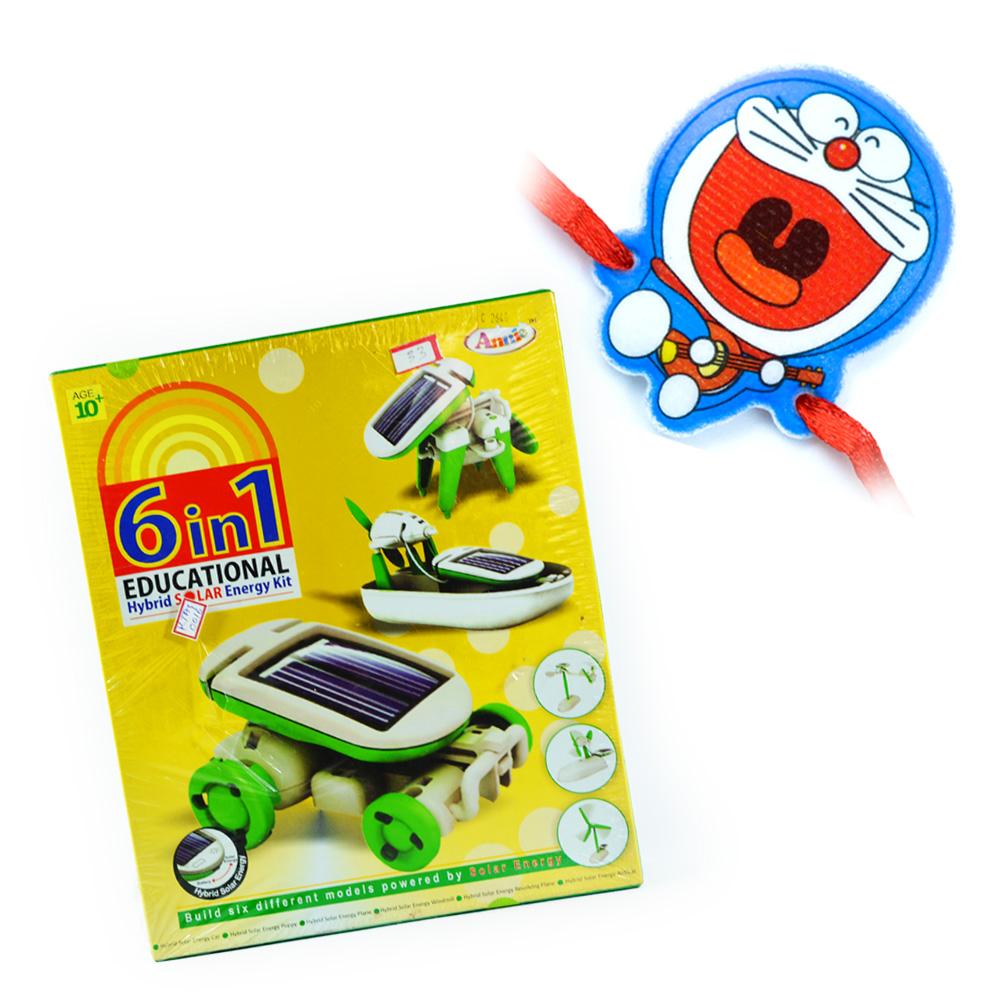 Solar Energy-6 in 1 Games n Doraemon Rakhi for Kids