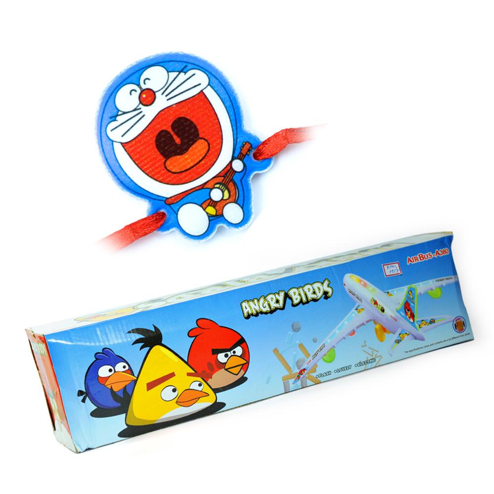 Angry Birds-Air Bus Toy n Doraemon Kids Rakhi