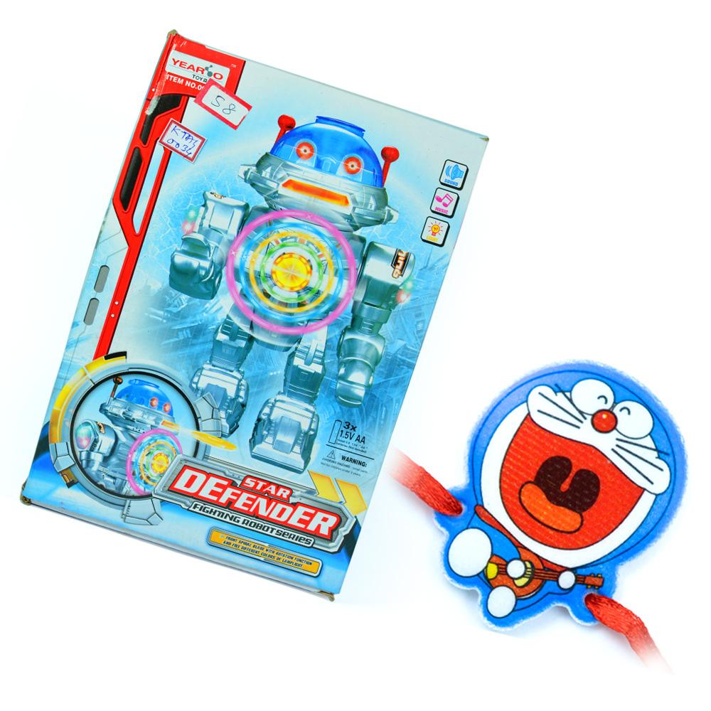 Star Defender with Doraemon Kids Rakhi