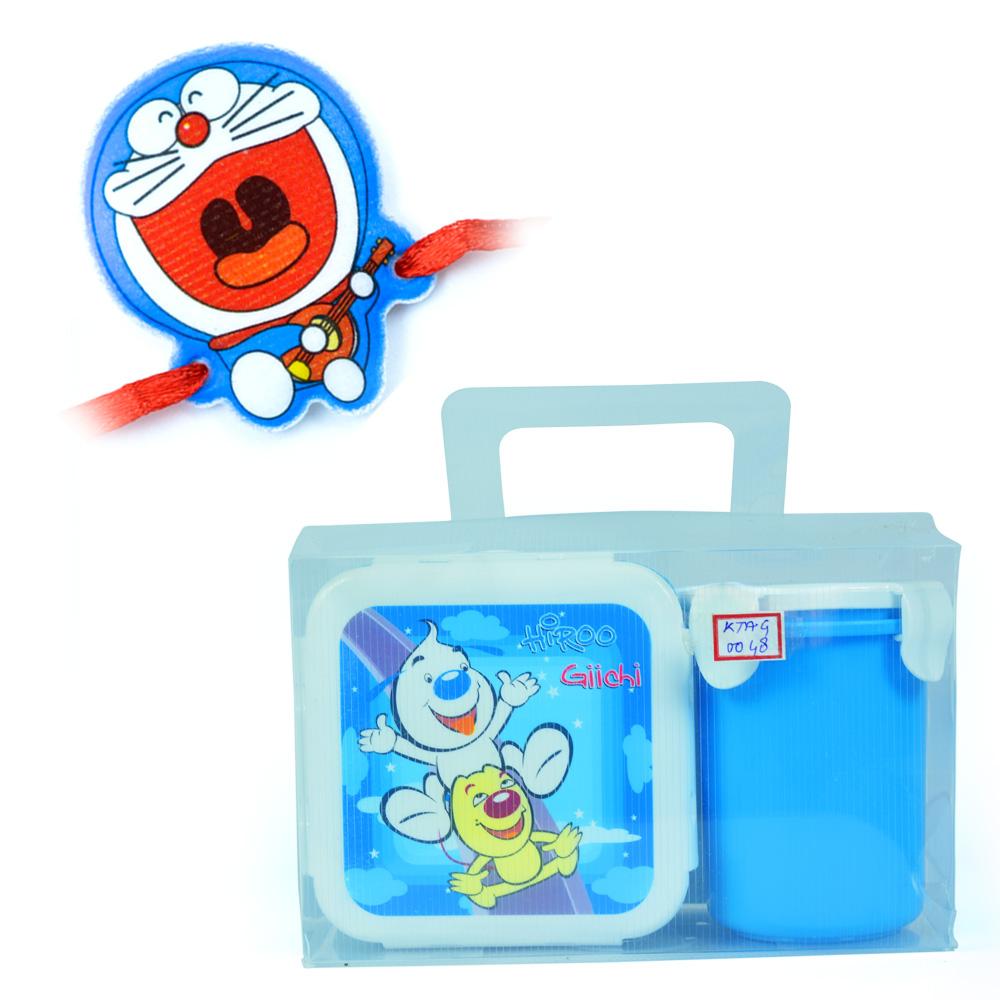 Hiroo-Tiffin n Cup n Doraemon Kids Rakhi